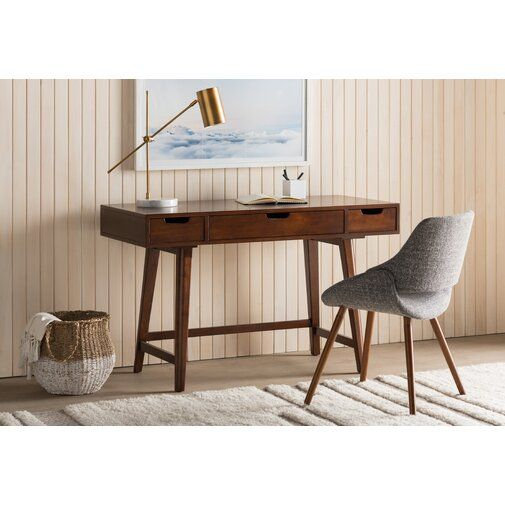 Sverre Mid Century Writing Desk Reviews Allmodern Desk In Living Room Furniture Wood Writing Desk
