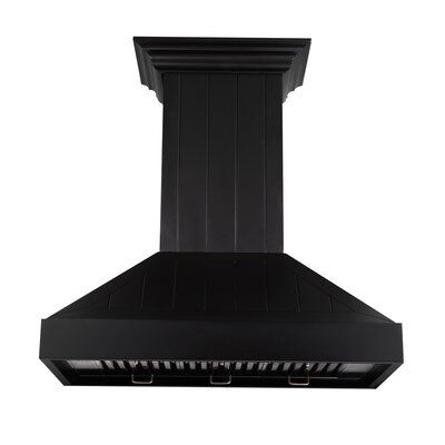 Zline Kitchen And Bath 36 Hand Crafted Designer Wood Wall Mount Hood Series 400 Cfm Ducted Range Hood Wall Mount Range Hood Wood Range Hood Range Hood