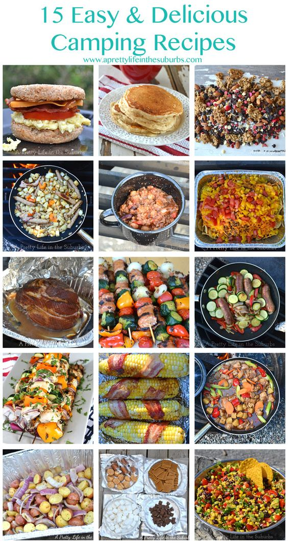 Kick up your camping menu with 15 Easy & Delicious Camping Recipes from @aprettylife. #WayBetterIdea