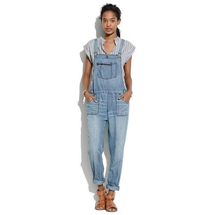 Madewell Park Overalls ~~a cool, updated shape (not too boxy, not too slim) and ready-to-roll tapered legs