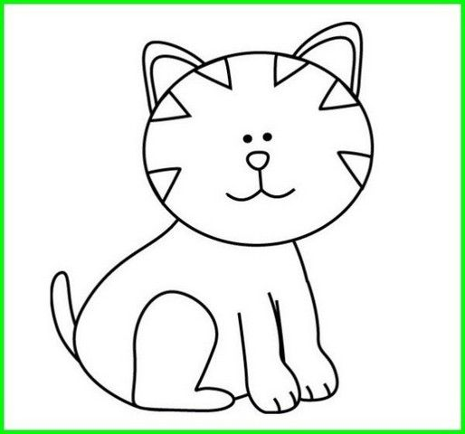 Gambar Kucing Kartun Mudah godean.web.id