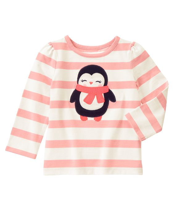 Penguin Striped Tee at Gymboree (Gymboree 3m-5T):