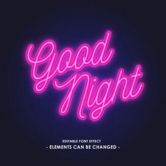 Neon Light Font Effect Light Font Neon Lighting Neon