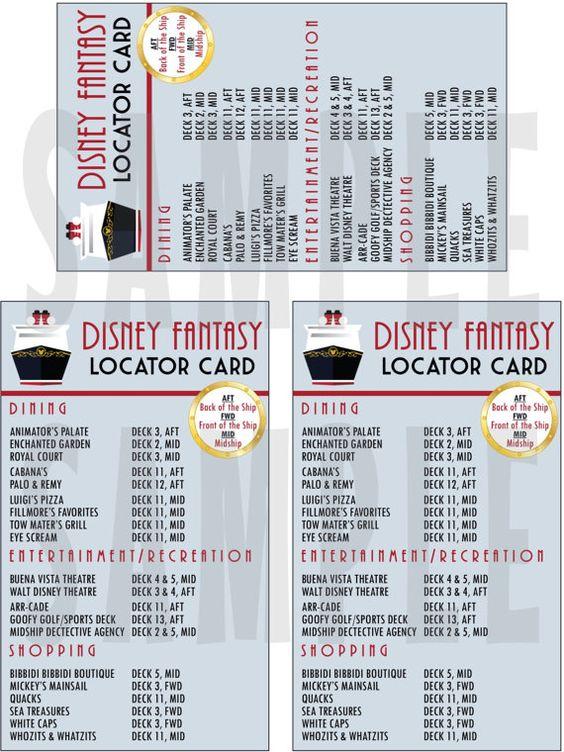 INSTANT DOWNLOAD Printable Disney Fantasy Locator Card-Great FE GiftALREADY READ THIS!