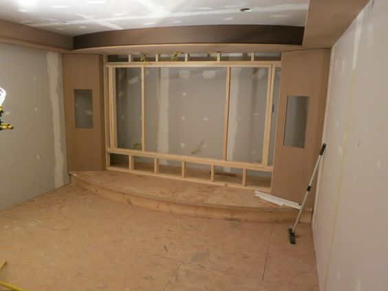 Home theater screen wall construction … | Pinteres…