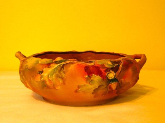 antique nippon molded in relief nut bowl
