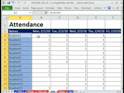 Best 25+ Attendance sheet in excel ideas on Pinterest - attendance template
