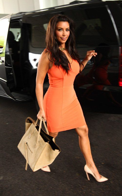 celine black luggage tote - Kim Kardashian wearing Christian Louboutin Pigalle Patent Leather ...