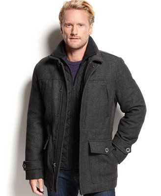 Tasso Elba Wool-Blend Car Coat | Fashion | Pinterest | Coats