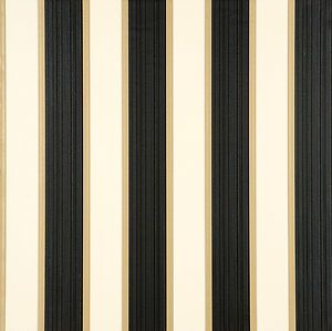 Rose arbour stripe black cream wallpaper 121311 by for Black and cream wallpaper