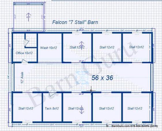 Horse barn layout floor plans for horse barns barn for Horse barn prices and plans