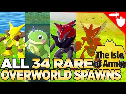 All 34 Rare Overworld Spawns In Isle Of Armor Pokemon Sword And Shield Dlc Youtube In 2021 Pokemon Armor Comic Book Cover