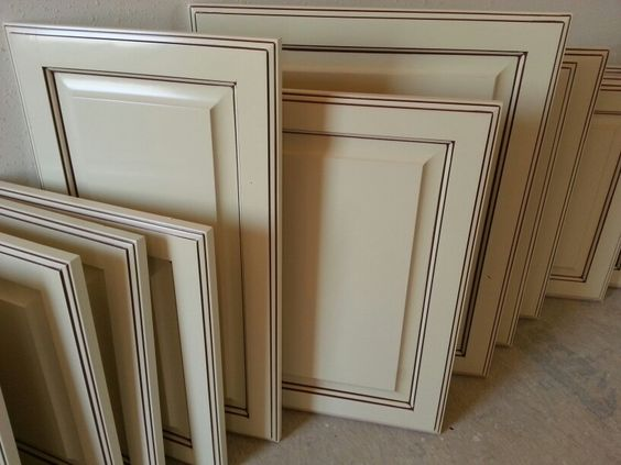 Antique white glazed cabinet doors recent work great for Antique glazed kitchen cabinets pictures