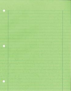 Handwriting notebook paper