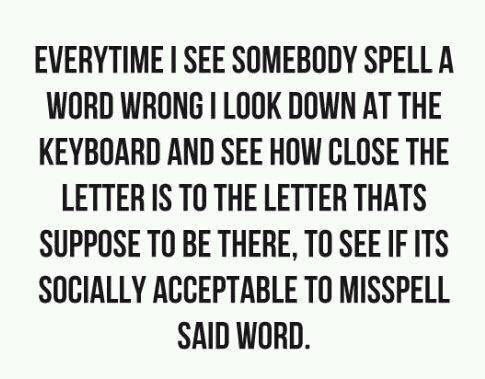 Spelling errors