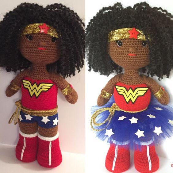 Amigurumi Wonder Woman : Wonder woman, Crochet and Womens on Pinterest
