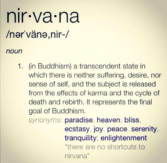 Ah, nirvana!
