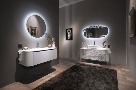 Novita 39 2015 bagno design arredobagno arredamento bagno arredobagno moderno specchi led - Bagno design moderno ...