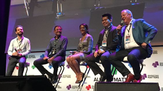 All That Matters marketing panel. L-r: Stephene Alpern of The Future's Company, Sameer Desai of Mundipharma, Sheelpa Patel of Infiniti, Judah Ruiz of Unilever, Ogilvy's Jerry Smith