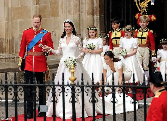 William and Kate leaving Westminster Abbey following their wedding