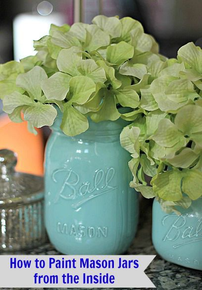 How to Paint Mason Jars from the Inside