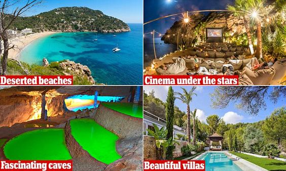 Ibiza experts share their top places to visit on the island with MailOnline Travel. They include yoga spots, quiet beaches, foodie hangouts, bargain shops and magical cocktail bars.
