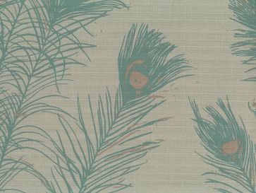 Peacock Feathers from Florence Broadhurst via Signature Prints #fabric #crypton #blue