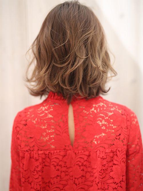 大人フェミニンカールボブ ヘアカタログ ヘアサロン 東京青山 大阪 神戸 K Two Effect 髪型 ミディアム パーマ 髪 ミディアム ヘアスタイル