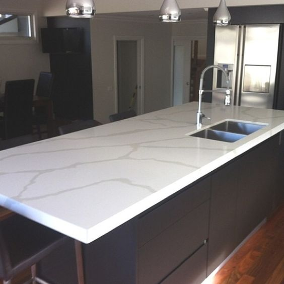 Calacutta Quartz From Quantum Quartz Benchtops Completed
