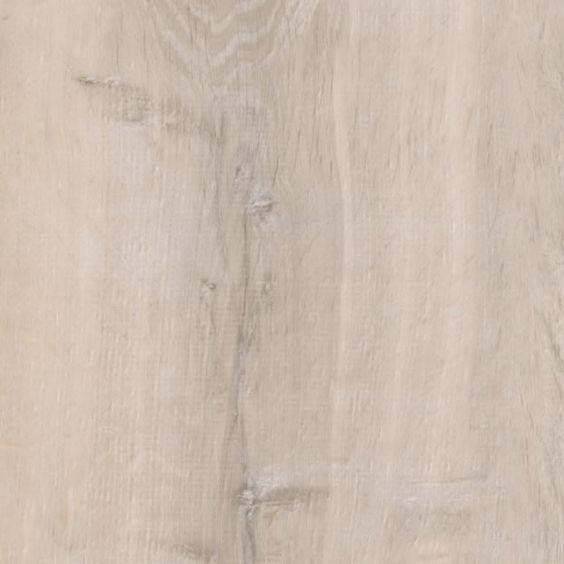 Der Klick-Vinyl-Fußbodenbelag More Eiche Weiß zeichnet sich aus durch sein extra breites Dielenformat von 1210 x 220 mm mit einer Stärke von 5 mm