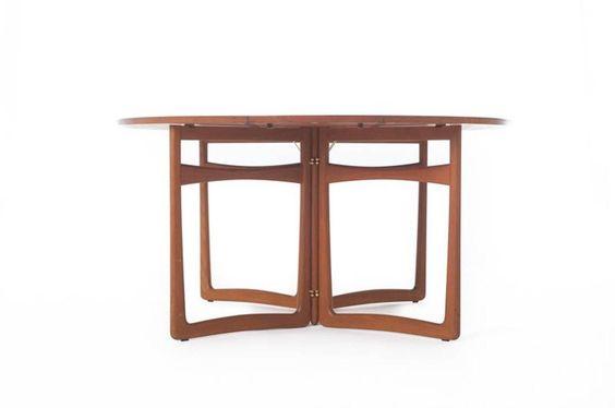 Vintage Danish Modern Teak Gateleg Table 2
