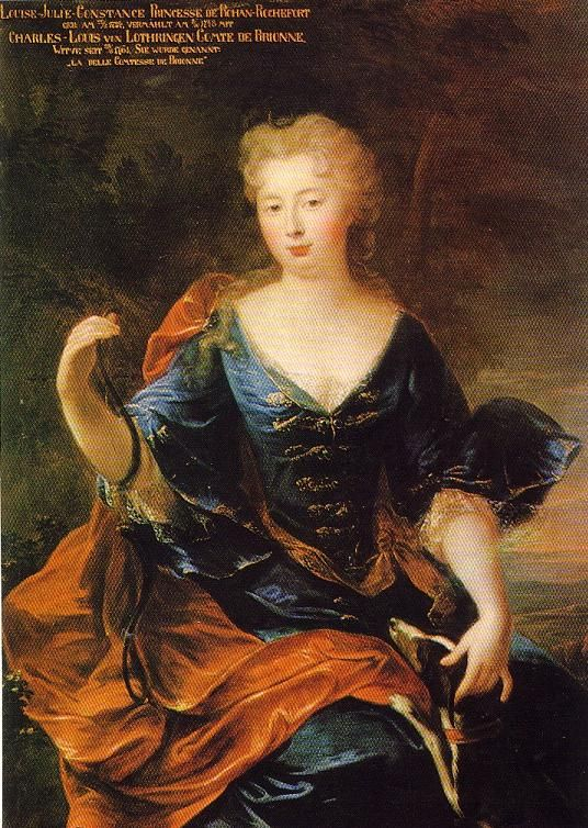 Princesse Louise Julie Constance de Rohan-Rochefort (1734 - 1815), Comtesse de Brionne et de Braine, Princesse de Lambesc et de Vaudémont, Princesse de Lorraine.