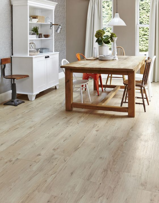 Vinyl planks planks and products on pinterest for Wood effect vinyl flooring kitchen