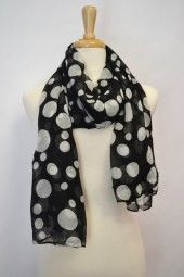 Light weight polka dot scarf, great for spring/summer season. The mix of large and small polka dots make this scarf even more unique. $19.99 Use code PINIT at checkout for 10% off your entire order.