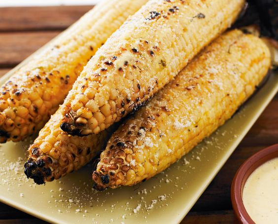 Grilled Corn with Pablano Aioli