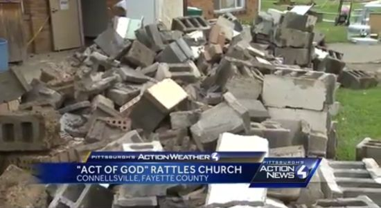 "Irony Alert: Insurance Agency Won't Cover PA Church Damaged in Flood Because It Was An ""Act of God"""