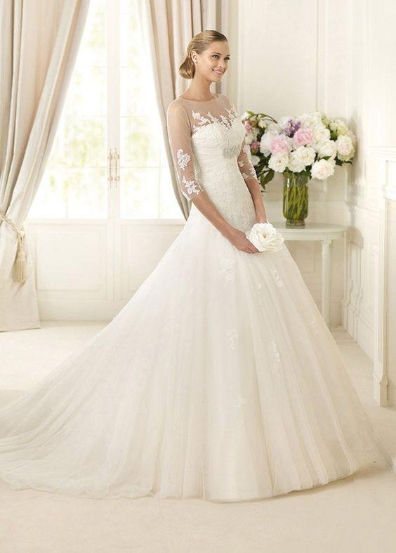 STYLE NO.WWD55058 #allure_wedding_dress #top_wedding_dress #popular_wedding_dress