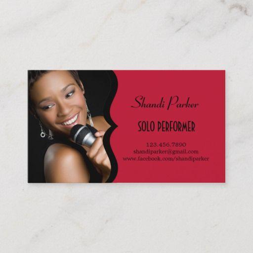 Music Performer Elegant Photo Business Card Zazzle Com Photo Business Cards Music Business Cards The Wedding Singer