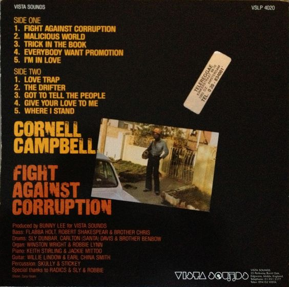 Cornell Campbell - Fight Against Corruption (back cover)