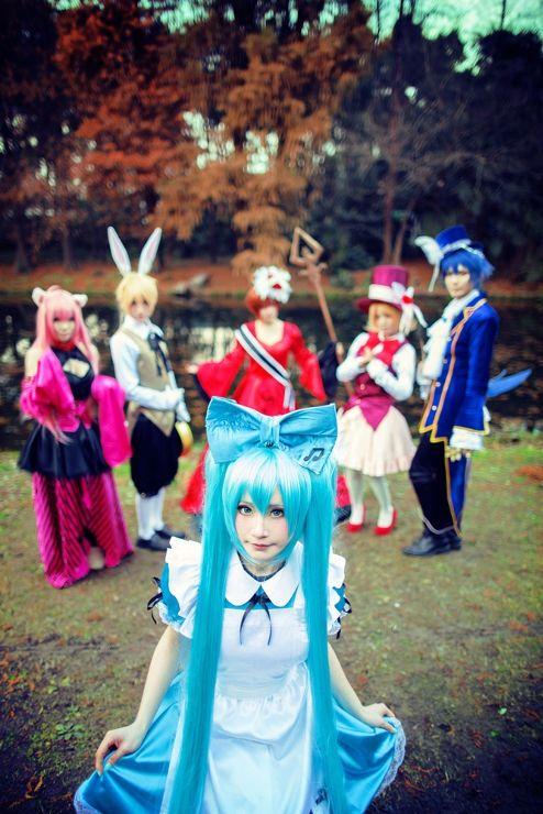 Alice in Musicland- #Vocaloid #Miku #Len #Kaito #Rin #Meiko #Luka