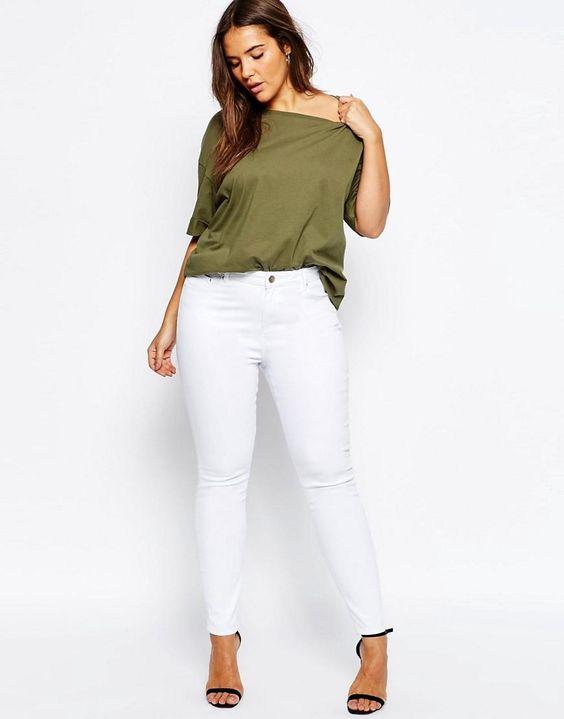 ASOS Curve | ASOS CURVE Ridley Skinny Jean in White at ASOS