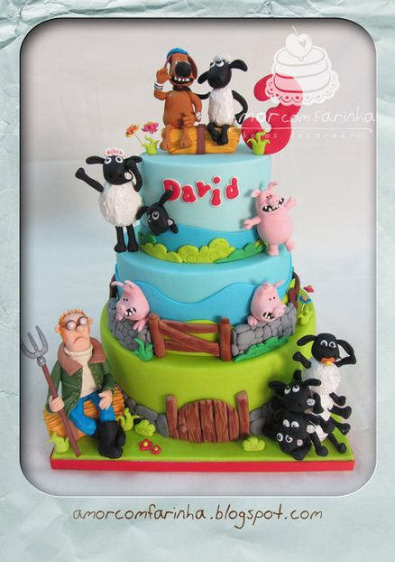 Shaun the sheep-cake. I think I like this better than Fynn haha!