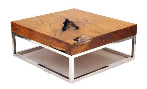 modern organic coffee table | Natural Wood Coffee Tables - rustic table collection from Chista