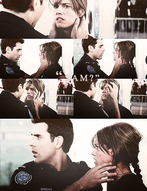 Rookie Blue. Andy and Sam:-) | sappy:-) Rookie Blue Andy And Sam