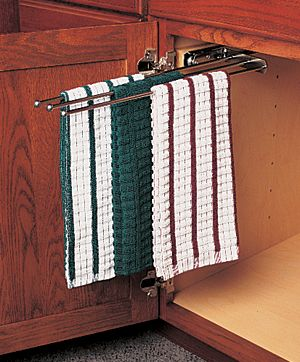 kitchen cabinets ideas kitchen towel racks for cabinets towel bar pull out - Kitchen Towel Bars Ideas