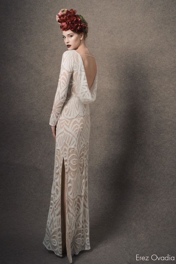 Erez Ovadia - Blossom Collection 2015 Dianne , Cowl back wedding dress | Fab Mood - UK wedding blog: