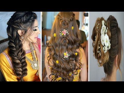21+ Hairstyle on lehenga for long hair inspirations