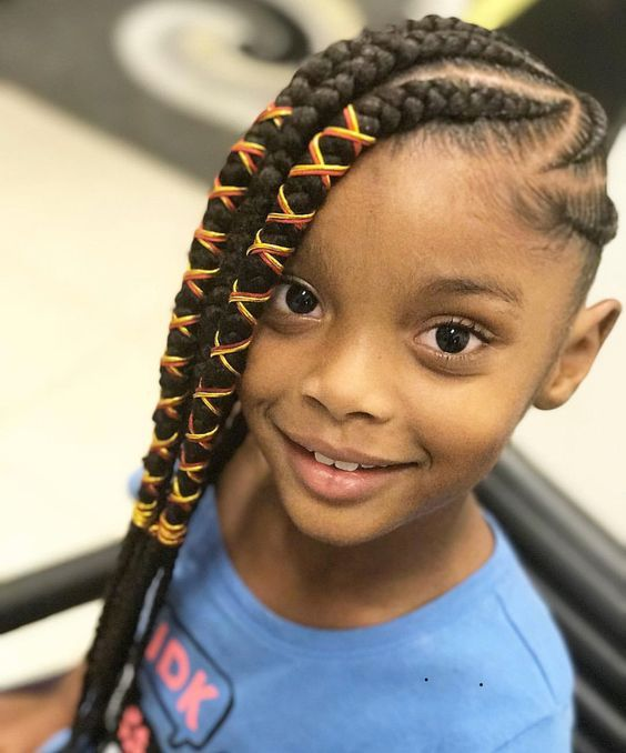 2018 Kids Braid Hairstyles Cute Braids Hairstyles For Kids African Braids Hairstyles Hair Styles Kids Braided Hairstyles