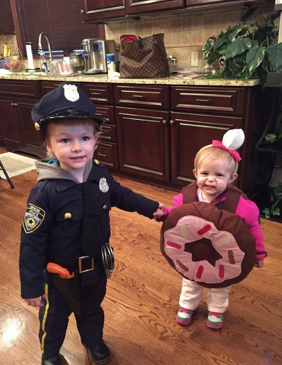 Poliziotto e ciambella