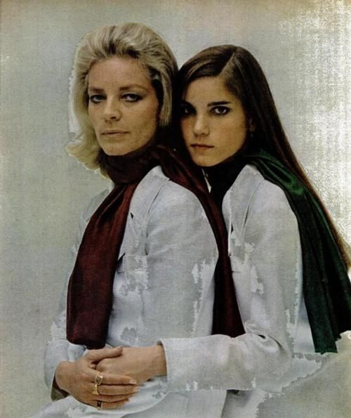 lauren bacall and her daughter leslie bogart a mothers